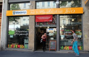 Façade du magasin Biocoop