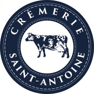 Logo de la crèmerie avec image d'une vache